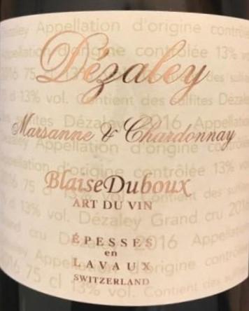 Dézaley, Marsanne-Chardonnay - 70cl - Blaise Duboux